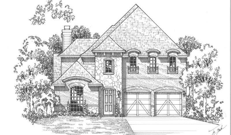 American Legend Homes The Tribute - Westbury subdivision  The Colony TX 75056