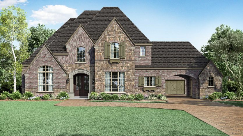 Huntington Homes Whitley Place subdivision  Prosper TX 75078