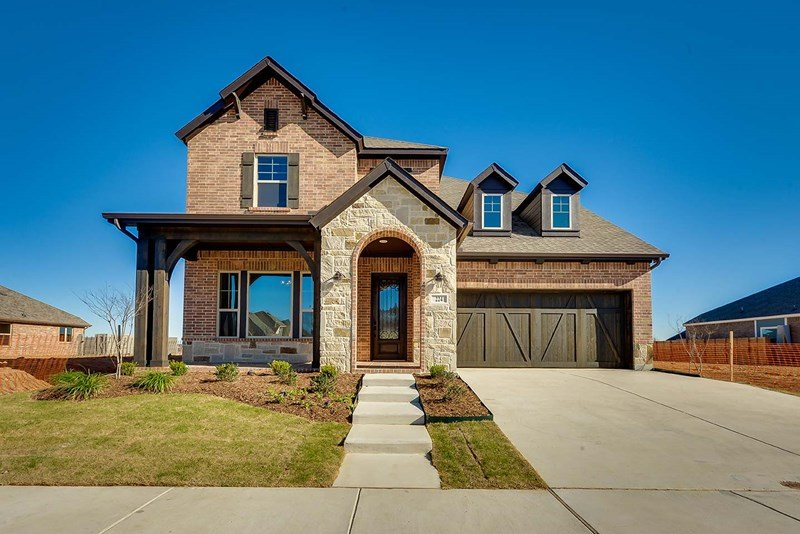 David Weekley Homes Harvest Gardens subdivision  Argyle TX 76226
