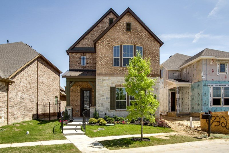 David Weekley Homes Parkside subdivision  Irving TX 75063