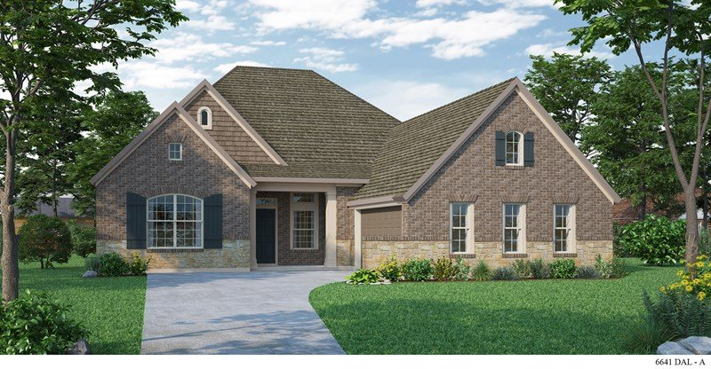 David Weekley Homes Highland Court Executive subdivision 4925 Campbeltown Drive Flower Mound TX 75028