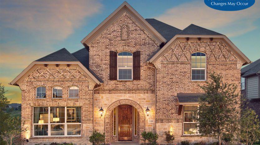 Landon Homes Hollyhock Impression Series subdivision  Frisco TX 75033