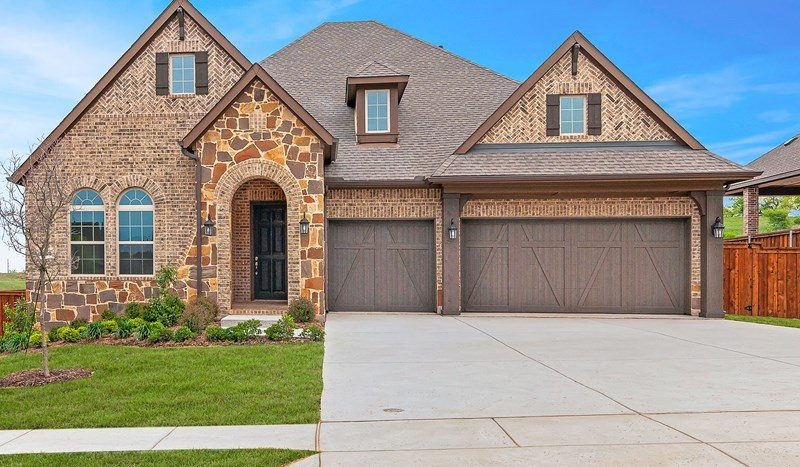David Weekley Homes Highland Court Executive subdivision  Flower Mound TX 75028