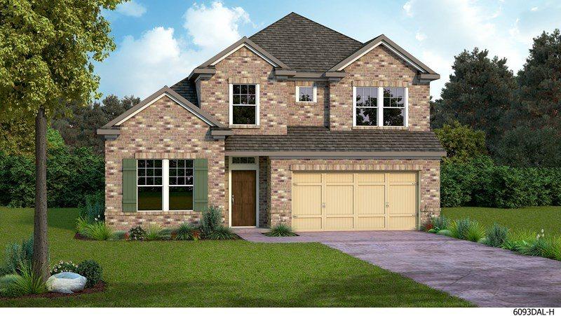 David Weekley Homes Prairie Oaks subdivision 713 Bent Brook Road Aubrey TX 76227