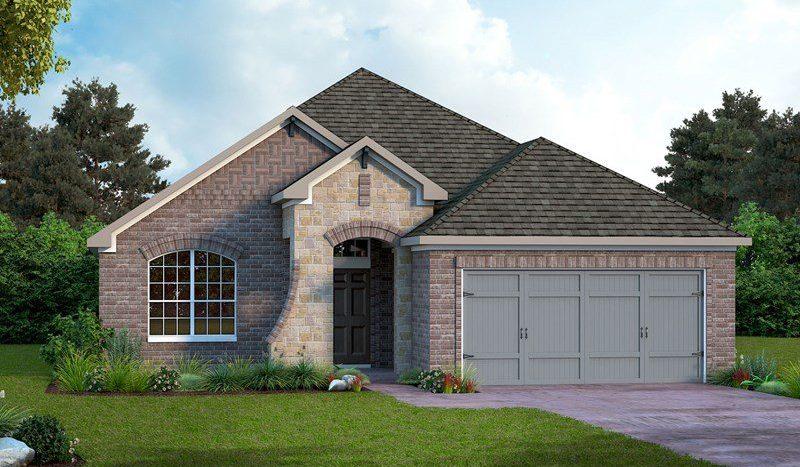 David Weekley Homes Prairie Oaks subdivision 709 Bent Brook Road Aubrey TX 76227