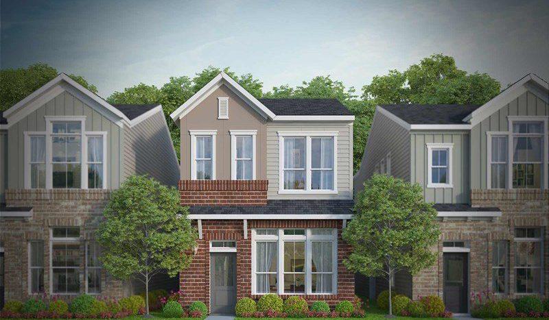 David Weekley Homes Parkside at Trinity Green - Gardens subdivision  Dallas TX 75212