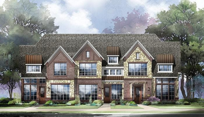 Grand Homes Lake Forest Townhomes subdivision  McKinney TX 75070