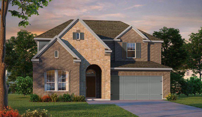 David Weekley Homes Mustang Lakes subdivision  Celina TX 75009