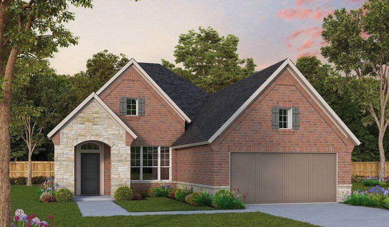 David Weekley Homes Prairie Oaks subdivision 9509 Blue Stem Lane Aubrey TX 76227