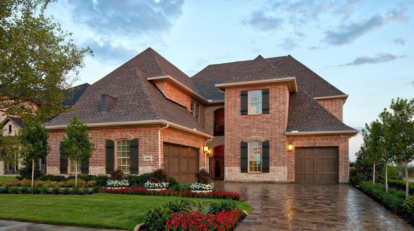 Darling  Homes Edgestone at Legacy subdivision 4189 Hazelwood Avenue Frisco TX 75034