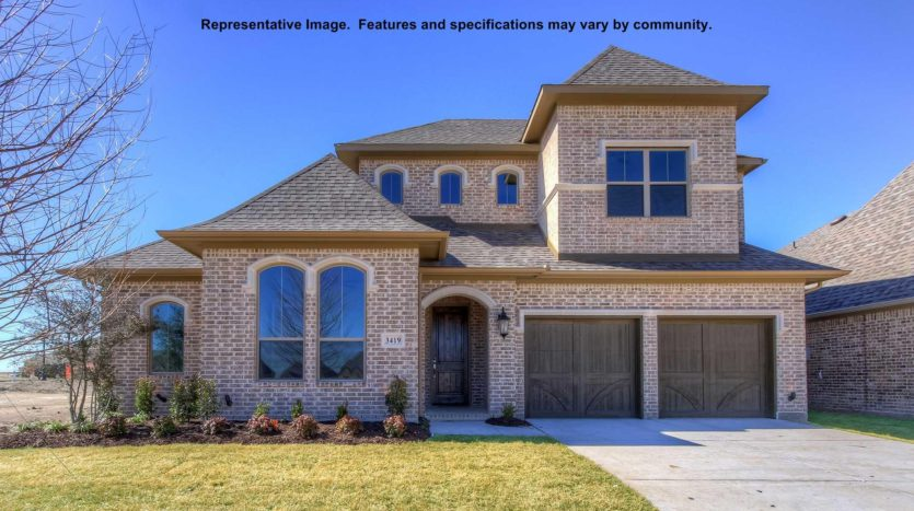 BRITTON HOMES Mustang Lakes 60' subdivision 2619 Maverick Way Celina TX 75009