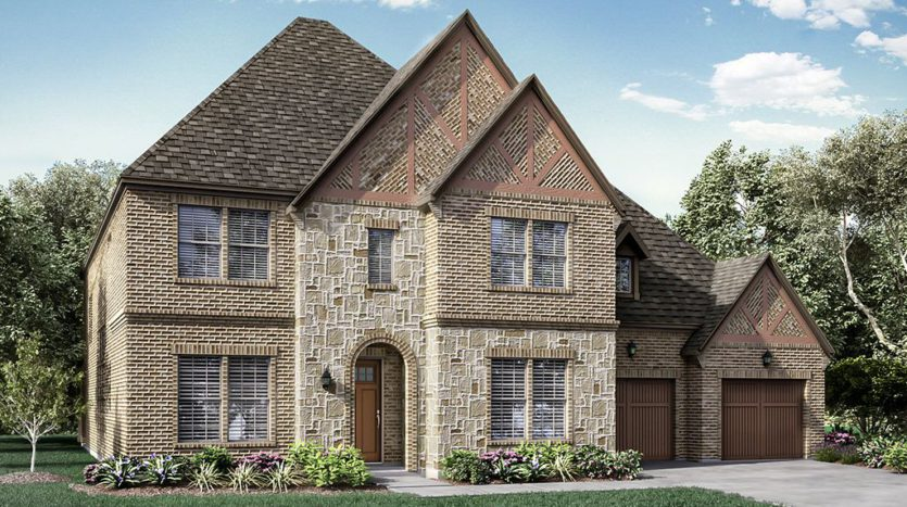 Darling  Homes Estates at Shaddock Park 74s subdivision 14397 Regents Park Frisco TX 75035