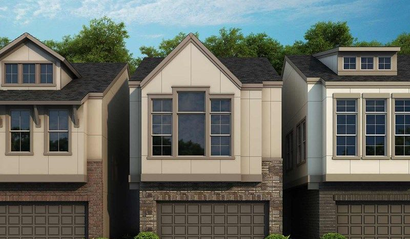David Weekley Homes Oak Park Villas subdivision 5136 Brickellia Drive Dallas TX 75209