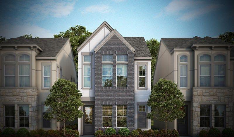 David Weekley Homes Oak Park Villas subdivision 5313 Laurel Branch Dr Dallas TX 75209