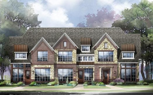 Grand Homes Lake Forest Townhomes subdivision 4837 McKinney Hollow McKinney TX 75070