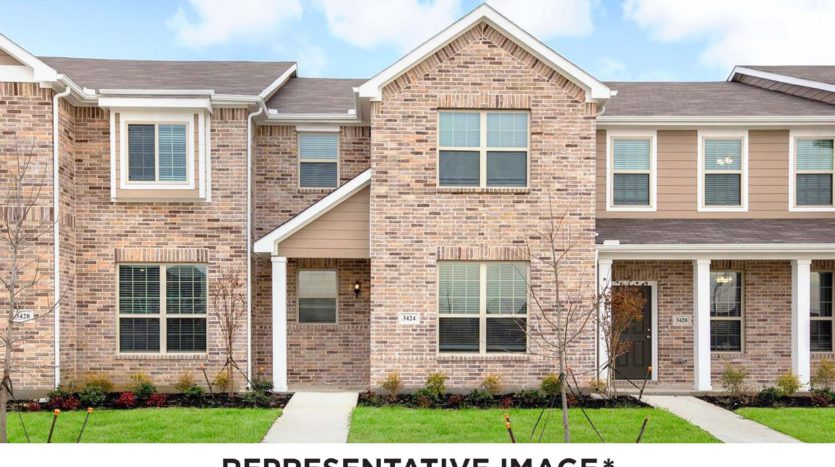 HistoryMaker Homes Brentwood Place Townhomes subdivision 3524 Brentwood Drive Denton TX 76207