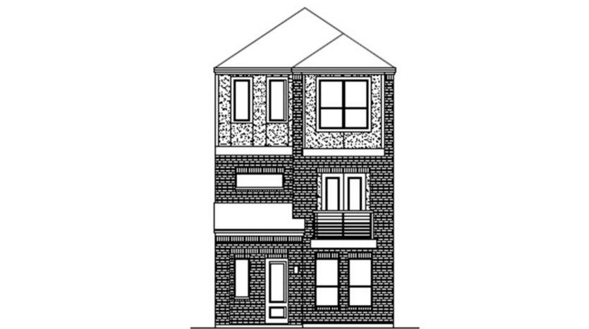 Chesmar Homes Merion at Midtown Park subdivision 8290 Laflin Drive Dallas TX 75231