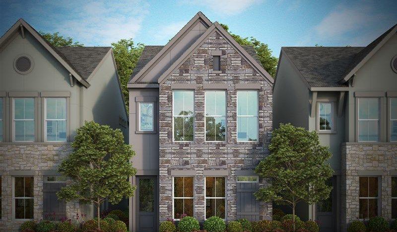 David Weekley Homes Oak Park Villas subdivision 5315 Teak Mill Place Dallas TX 75209
