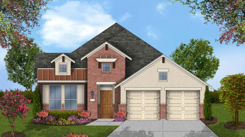 Coventry Homes Barrington at Lantana 50s subdivision 1401 Haverford Ln Lantana TX 76226