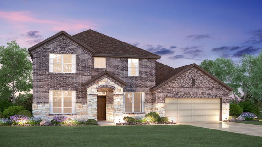 M/I Homes Hollyhock subdivision 15696 Pleat Leaf Road Frisco TX 75033