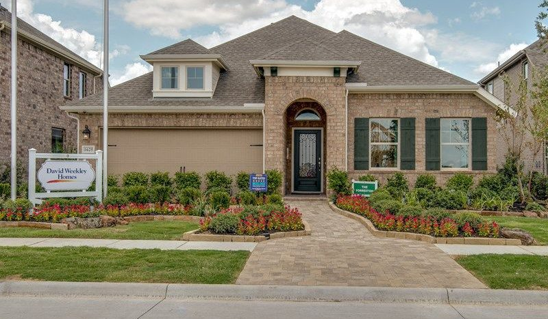 David Weekley Homes Sandbrock Ranch subdivision 1625 Ranger Road Aubrey TX 76227