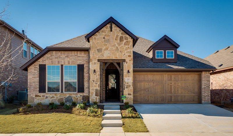 David Weekley Homes Highland Court Cottage subdivision 3154 Perth Drive Flower Mound TX 75028