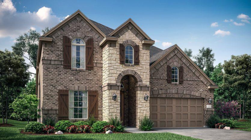 Village Builders Bradford Park 75' subdivision 5557 Winter Haven Bend Flower Mound TX 75028