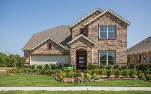 David Weekley Homes Sandbrock Ranch subdivision 4033 Fox Trotter Drive Aubrey TX 76227