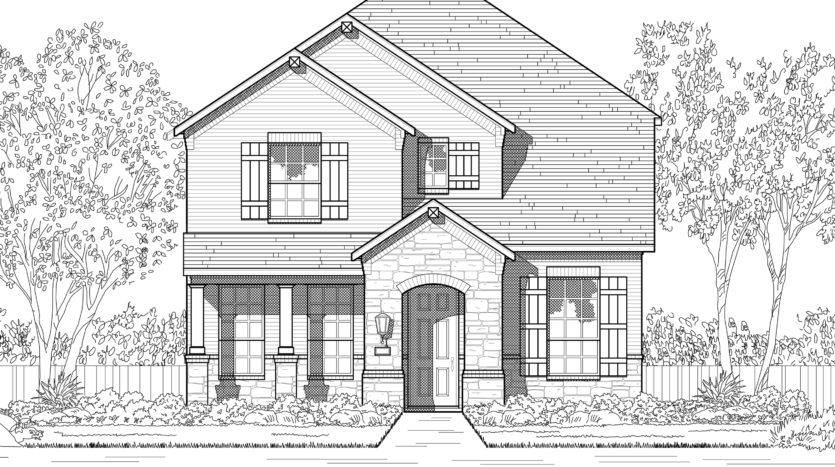 Highland Homes Trinity Falls: 40ft. lots subdivision 8329 Oak Island Trail McKinney TX 75071