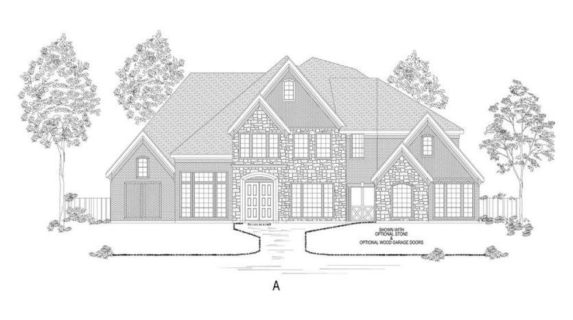 Gallery Custom Homes Lakes of La Cima subdivision Mountain Creek Lane Prosper TX 75078
