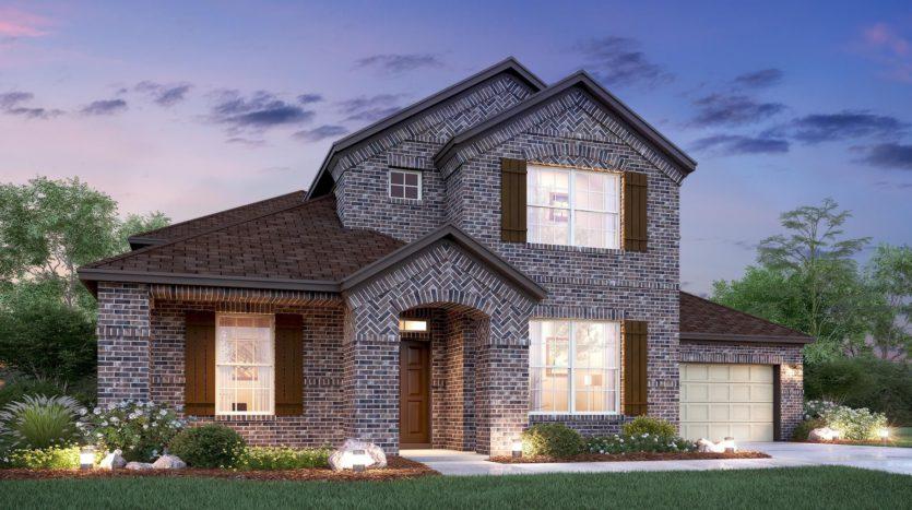 M/I Homes Hollyhock subdivision 15696 Pleat Leaf Road Frisco TX 75033