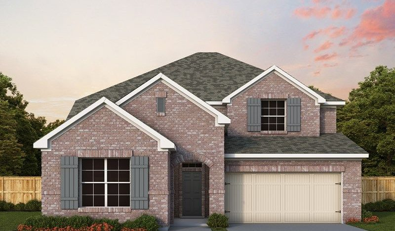David Weekley Homes Gateway Parks Cottages subdivision 1288 Caprock Drive Forney TX 75126