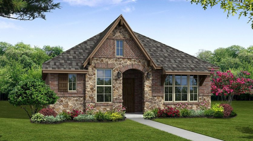 Beazer Homes Valencia on the Lake - Arbors 40s subdivision 2000 Miramar Dr Little Elm TX 75068