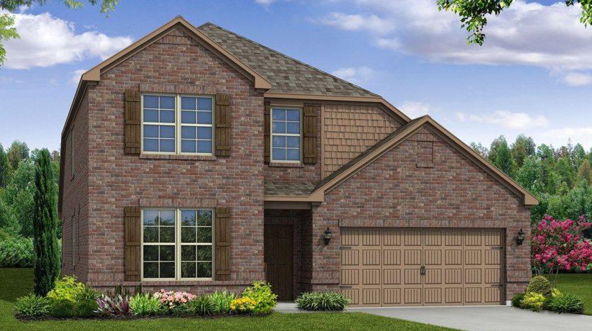 Beazer Homes Devonshire subdivision 2111 Dorsey Drive Forney TX 75126