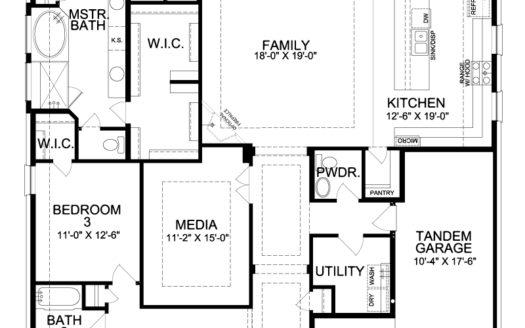 Landon Homes Canyon Falls subdivision 11609 Antler Ridge Roanoke TX 76262