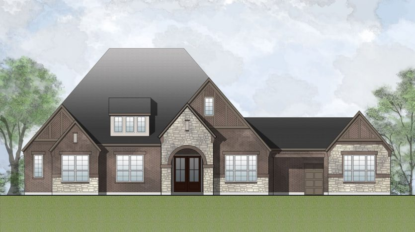 Drees Custom Homes Canyon Falls subdivision 201 Big Sky Circle Argyle TX 76226