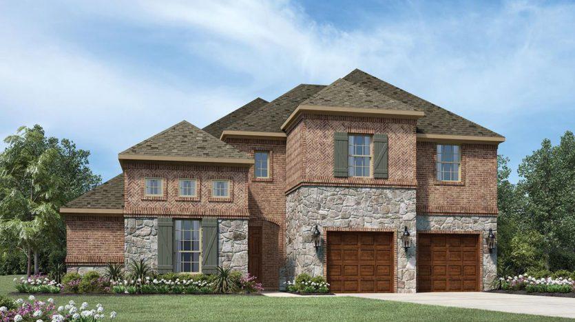 Toll Brothers Pecan Square subdivision 708 Redbrick Lane Northlake TX 76247
