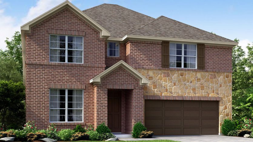 Meritage Homes The Enclave at Oak Grove subdivision 2216 Covey Court Little Elm TX 75068