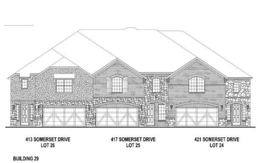 American Legend Homes Castle Hills Northpointe - Townhomes subdivision 413 Somerset Drive Lewisville TX 75056