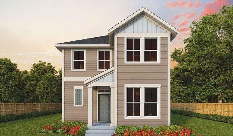David Weekley Homes Thomas Place Gardens subdivision 1532 Olive Street Carrollton TX 75006
