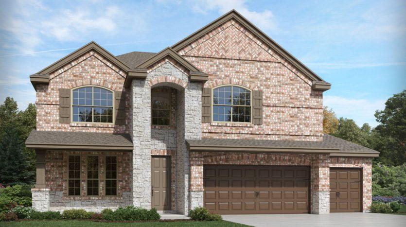 Meritage Homes ArrowBrooke - The Estate Series subdivision 1829 Settlement Way Aubrey TX 76227