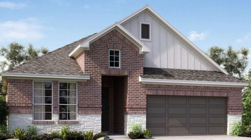 Meritage Homes The Enclave at Oak Grove subdivision 2353 Willow Garden Drive Little Elm TX 75068