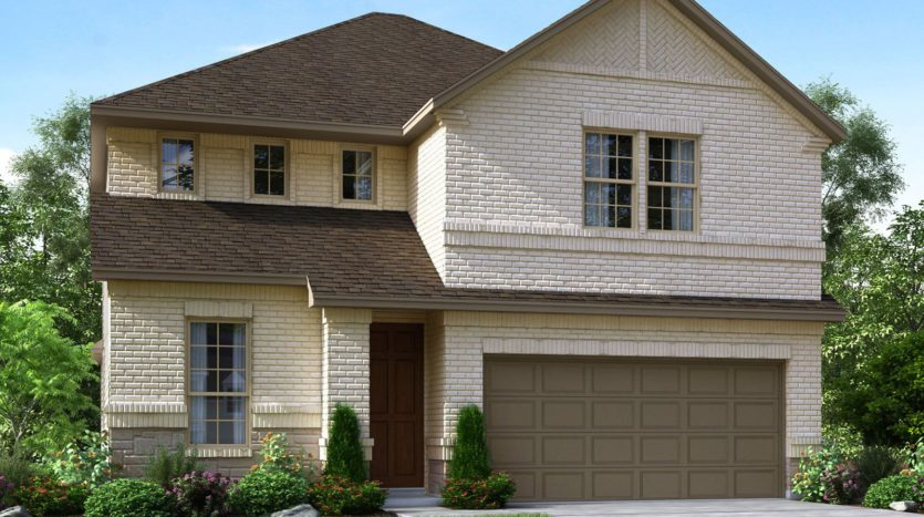 Meritage Homes The Enclave at Oak Grove subdivision 2305 Willow Garden Drive Little Elm TX 75068