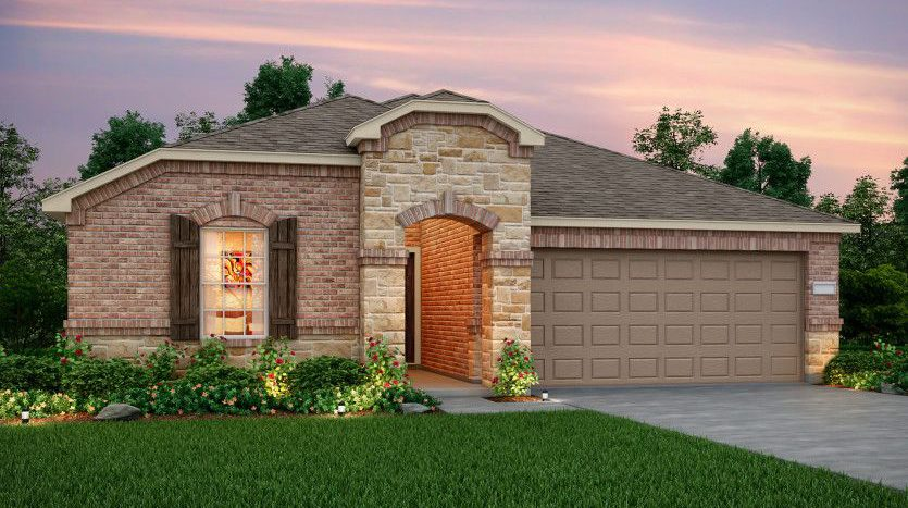 Pulte Homes Travis Ranch subdivision 1625 Timpson Drive Forney TX 75126