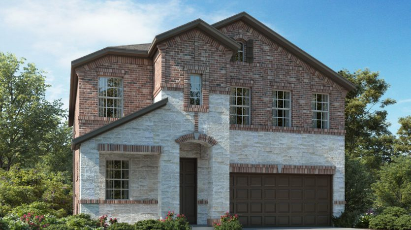 Meritage Homes The Enclave at Oak Grove subdivision 2324 Willow Garden Drive Little Elm TX 75068